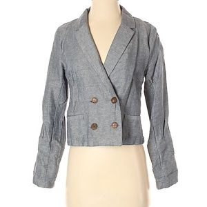 Gray Women's Blazer I love H81 Suit Jacket Size S